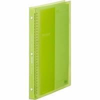 【送料無料・単価536円・80セット】キングジム クリアーファイル シンプリーズ 138TSP A4S 黄緑(80セット)