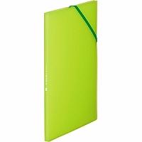 【送料無料・単価369円・120セット】キングジム クリアーファイル ホルダーイン8P A4S 6171TW 黄緑(120セット)