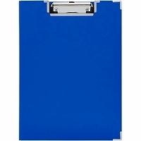 【送料無料・単価269円・200セット】キングジム クリップボード カバー付BFシリーズ 青 309BFアオ(200セット)