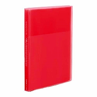 【送料無料・単価504円・120セット】キングジム クリアーファイル スムーズイン A4 40ポケット(小口20枚) 173TSMW 赤(120セット)