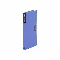 【送料無料・単価412円・120セット】キングジム カードホルダー カーズ 溶着式 42 青(120セット)