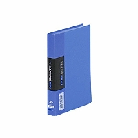 【送料無料・単価317円・180セット】クリアーファイルミニ 青 A6S 青 91Cアオ(180セット)