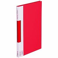 【送料無料・単価738円・60セット】キングジム サイドイン クリアーファイル カラーベース A4S 137C 赤(60セット)