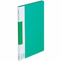 【送料無料・単価738円・60セット】キングジム サイドイン クリアーファイル カラーベース A4S 137C 緑(60セット)