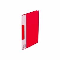【送料無料・単価403円・120セット】キングジム サイドイン クリアーファイル カラーベース B5S 127CH 赤(120セット)