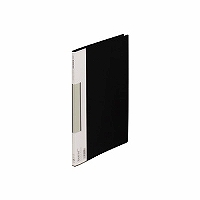 【送料無料・単価403円・120セット】キングジム サイドイン クリアーファイル カラーベース B5S 127CH 黒(120セット)