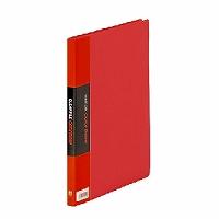 【送料無料・単価537円・120セット】キングジム クリアーファイル カラーベース B5 (S型) 20枚 122C 赤(120セット)