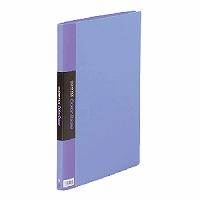 【送料無料・単価1040円・60セット】キングジム クリアーファイル カラーベース B4 (S型) 20枚 タテ 142C 青(60セット)