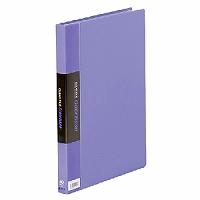 【送料無料・単価1006円・60セット】キングジム クリアーファイル カラーベース W A4S 132CW 藤(60セット)