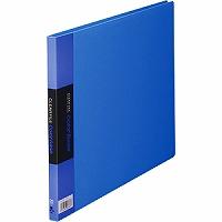 【送料無料・単価738円・60セット】キングジム クリアーファイル カラーベース A4 (E型) 130C 青(60セット)