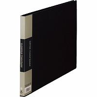 【送料無料・単価738円・60セット】キングジム クリアーファイル カラーベース A4 (E型) 130C 黒(60セット)