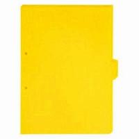 【送料無料・単価313円・200セット】キングジム カラーインデックス5山(単色) 黄 A4S 907T20キイ(200セット)