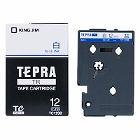 【箱買い商品 / 一箱120セット】キングジム KING JIM TRテープカートリッジ シロ/青 TC12SB (納期優先の為単品詰合せの場合が御座います)
