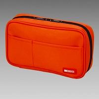 【箱買い商品 / 一箱80セット】リヒト ペンケース橙 A-7551-4 (納期優先の為単品詰合せの場合が御座います)
