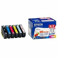 """【箱買い商品 / 一箱30セット】EPSON/インクカートリッジ 増量6色IC6CL70L/"""" (納期優先の為単品詰合せの場合が御座います)"""