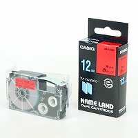 カシオ ラベルライター ネームランド テープ 12mm XR-12RD 赤(10セット)