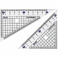 【箱買い商品 / 一箱400セット】クツワ メタクリル三角定規 HA120 (納期優先の為単品詰合せの場合が御座います)