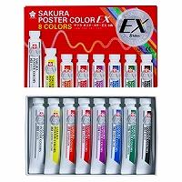 【箱買い商品 / 一箱80セット】サクラ ポスターカラー8色 PEW8 (納期優先の為単品詰合せの場合が御座います)