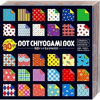 セール商品 23-2187 with ショウワグリム origami both sides dot 4901161021872 ちよがみ pieces 店 ショウワノート 120 30柄両面ドットちよがみBOX BOX