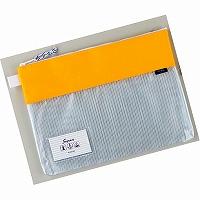 【箱買い商品 / 一箱100セット】セキセイ メッシュケースA4イエロー AZ-2327-50 (納期優先の為単品詰合せの場合が御座います)