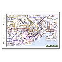 【単価357円・50セット】レイメイ藤井 ダヴィンチ リフィル 広域鉄道路線図 聖書 DR353(50セット)