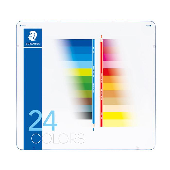 【単価1055円・20セット】ステッドラー ノリスクラブ色鉛筆 メタルケース入り 36色(20セット)