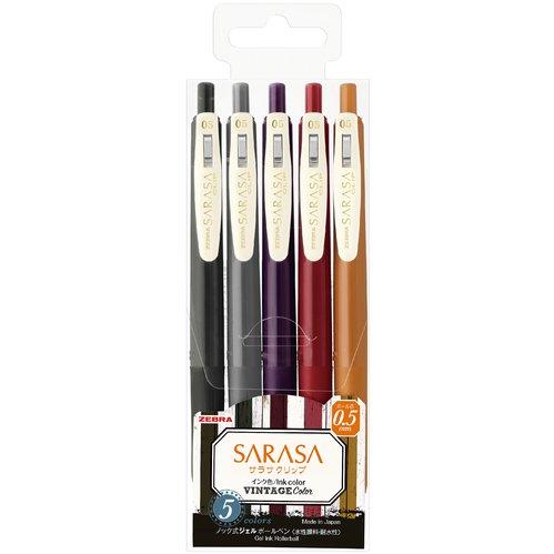 在庫品 ZEBRA ゼブラ サラサクリップ0.5 VI2 JJ15-5C-VI2 5色セット 4901681694228 倉庫 ゆうパケット可 驚きの値段