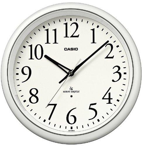 CASIO (カシオ) 常時点灯機能付き 電波アナログ壁掛け時計 ホワイト IQ-1050NJ-7JF(5セット)