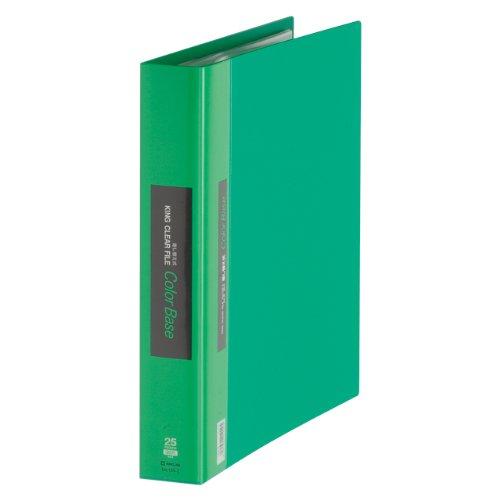 【送料無料・単価1578円・10セット】キングジム クリアーファイルカラーベース 差換式 A4S 139-3 緑(10セット)