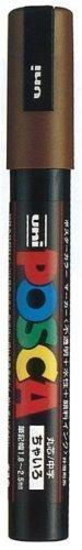 【単価143円・110セット】ミツビシ 三菱鉛筆 UNI 水性ペン ポスカ 細字 茶 PC3M.21 茶(110セット)