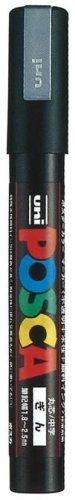 【送料無料・単価143円・110セット】ミツビシ 三菱鉛筆 UNI ポスカ ナチュラルカラー 細字 シルバー PC3M.26(110セット)