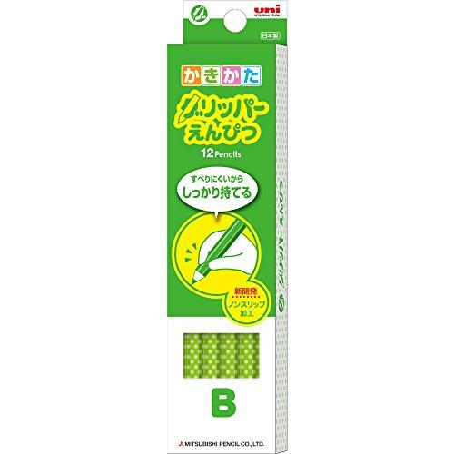 【送料無料・単価574円・20セット】ミツビシ 三菱鉛筆 UNI 鉛筆 かきかた グリッパー えんぴつ B 緑 12本入 K6903B(20セット)