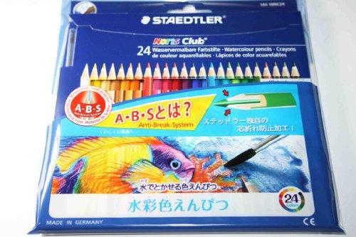 ステッドラー 水彩色鉛筆 ノリスクラブ 144 10NC24P 24色(10セット)