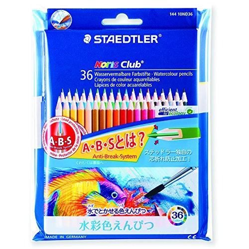ステッドラー 水彩色鉛筆 ノリスクラブ 144 10ND36P 36色(10セット)