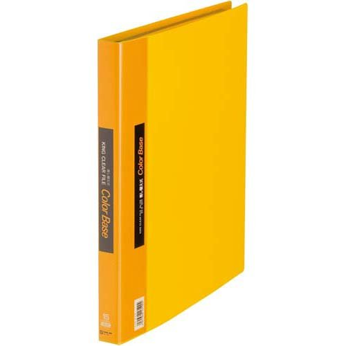 キングジム クリアーファイル カラーベース 差替式 A4S 139 黄(10セット)
