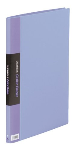 【送料無料・単価1090円・10セット】キングジム クリアーファイル カラーベース B4 (S型) 20枚 タテ 142C 青(10セット)