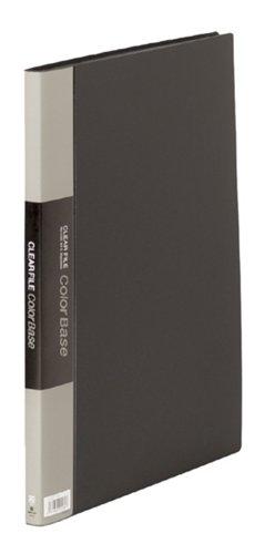 【送料無料・単価1090円・10セット】キングジム クリアーファイル カラーベース B4 (S型) 20枚 タテ 142C 黒(10セット)