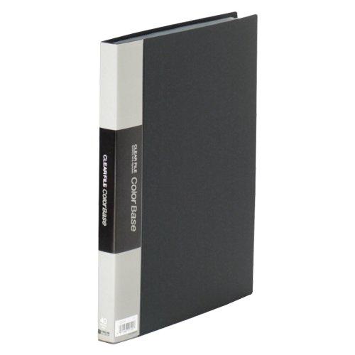 【送料無料・単価1055円・10セット】キングジム クリアーファイル カラーベース W A4S 132CW 黒(10セット)