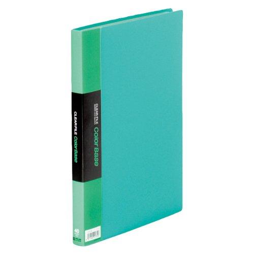 キングジム クリアーファイル カラーベース W A4S 132CW 緑(10セット)