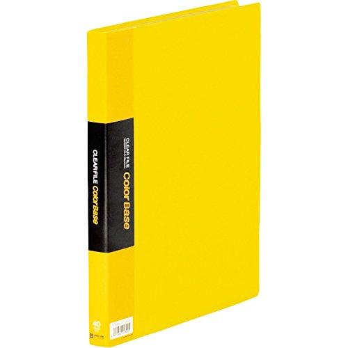 【送料無料・単価1055円・10セット】キングジム クリアーファイル カラーベース W A4S 132CW 黄(10セット)