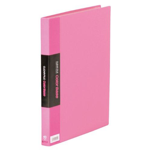 キングジム クリアーファイル カラーベース W A4S 132CW ピンク(10セット)