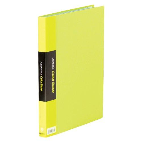 【送料無料・単価1055円・10セット】キングジム クリアーファイル カラーベース W A4S 132CW 黄緑(10セット)
