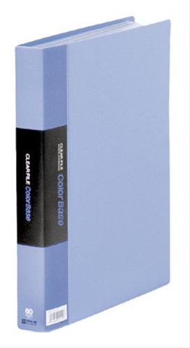 【送料無料・単価1442円・10セット】キングジム クリアーファイル カラーベース T A4S 132-3C 青(10セット)