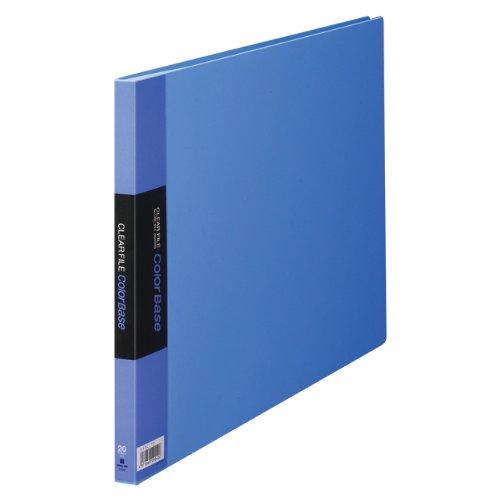 【送料無料・単価1160円・10セット】キングジム クリアーファイル カラーベース B4 (E型) 20枚 140C 青(10セット)