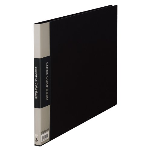 【送料無料・単価1160円・10セット】キングジム クリアーファイル カラーベース B4 (E型) 20枚 140C 黒(10セット)