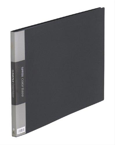 【送料無料・単価1372円・10セット】キングジム クリアーファイル カラーベース A3 (E型) 150C 黒(10セット)