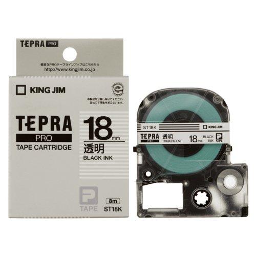 キングジム テープカートリッジ テプラPRO 18mm ST18K 透明(10セット)