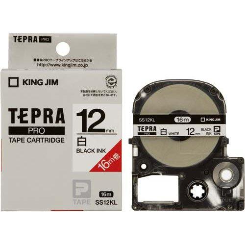 キングジム テープカートリッジ テプラPRO ロングタイプ 12mm SS12KL(10セット)