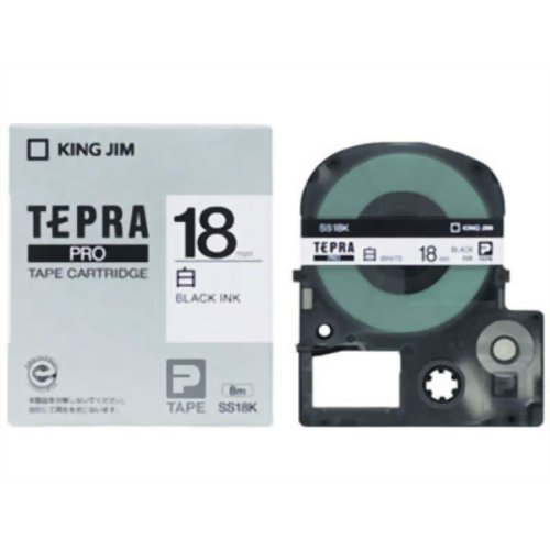 18mm テプラPRO SS18K(10セット) 【1343円×10セット】キングジム テープカートリッジ