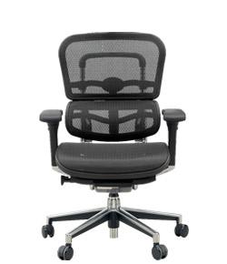 Ergohuman エルゴヒューマンチェア ベーシック イス 椅子 エラストメリックメッシュ ロータイプ ブラック